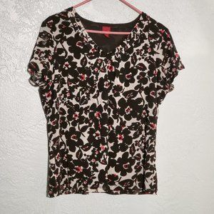 212 COLLECTION XL SHORT SLEEVE BLOUSE